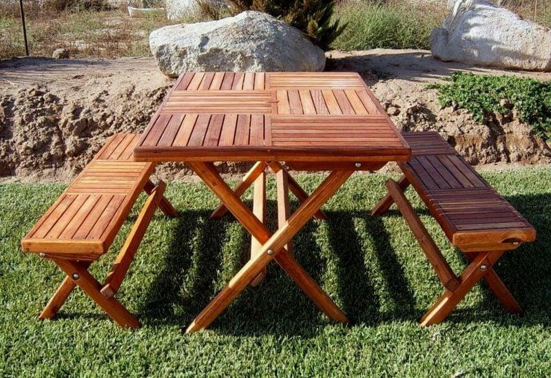 gartentisch selber bauen portable folding picnic table