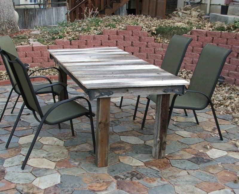 Gartentisch selber bauen