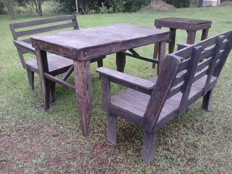 gartentisch selber bauen pallet garden furniture