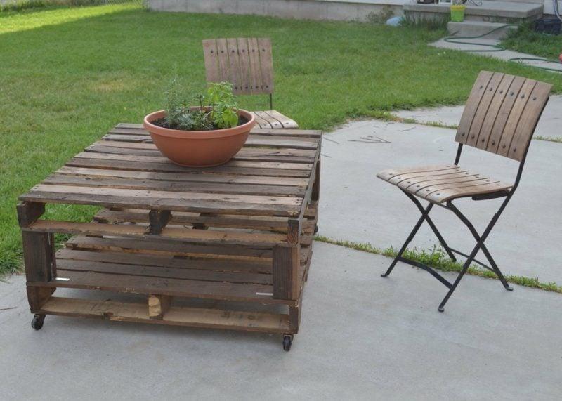 Gartentisch selber bauen aus paletten  Gartentisch selber bauen - Anleitung - DIY, Garten, Haus & Garten ...