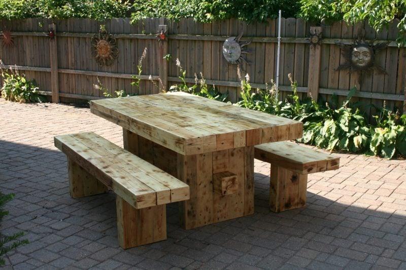 gartentisch selber bauen rustic