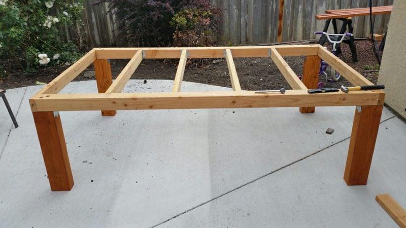 gartentisch selber bauen table frame