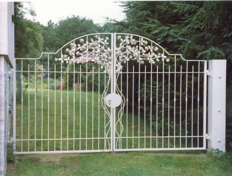 Metallgartentore zweiteiliges geschmiedeten rosen