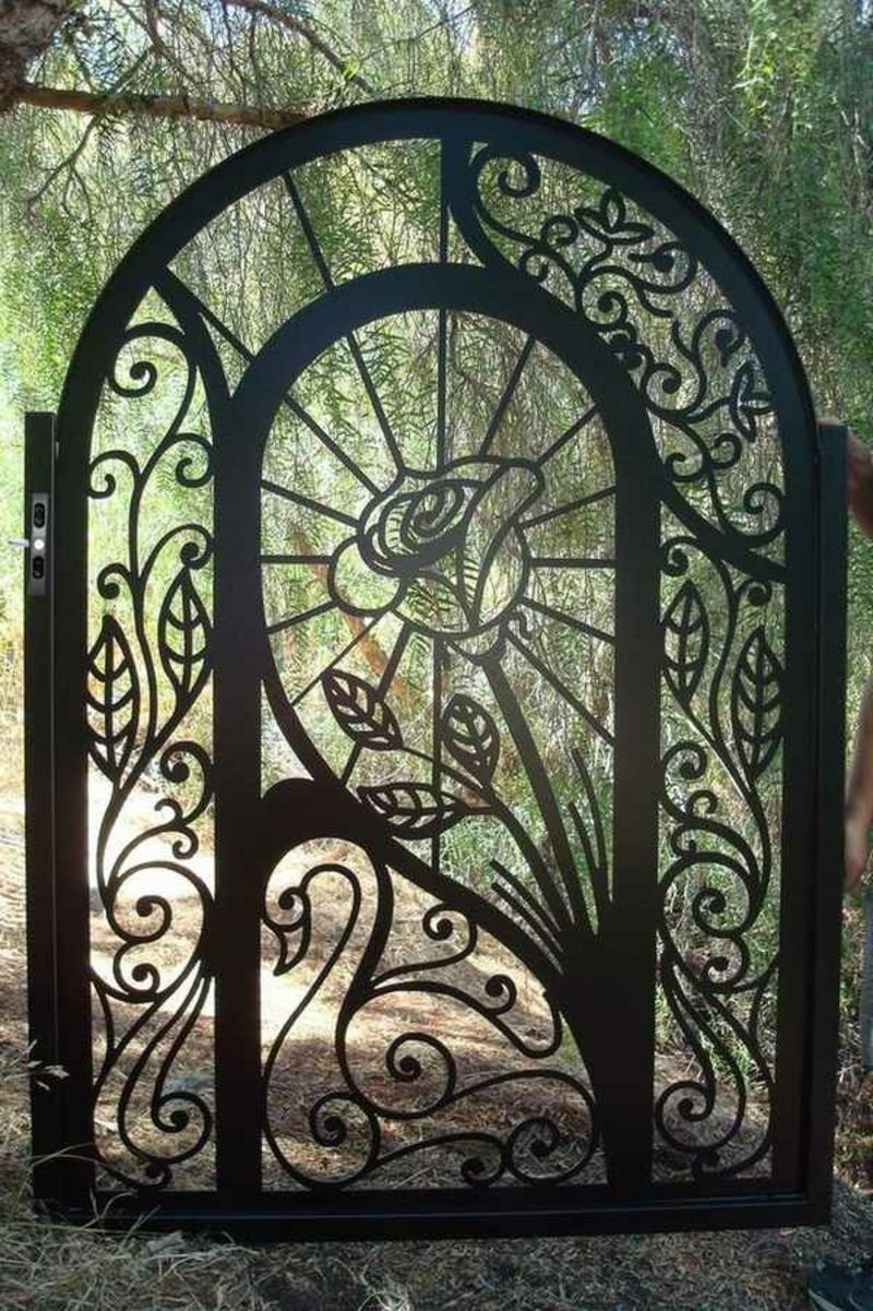 Metallgartentore exquisite wrought iron garden rose