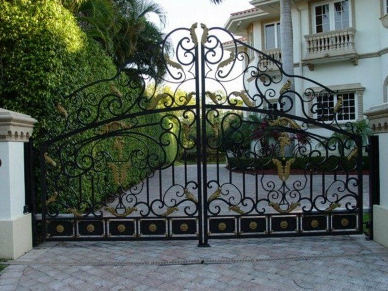 Metallgartentore wrought exterior