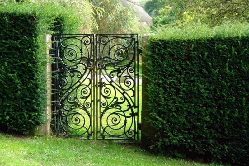 Metallgartentore metal garden gates wrought