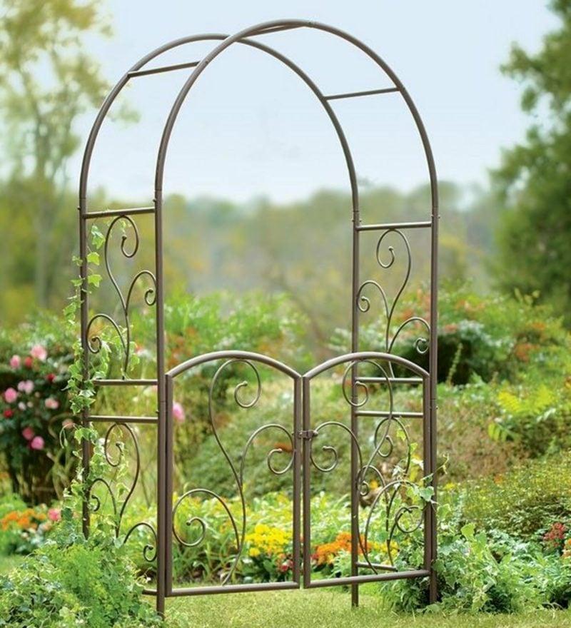 Metallgartentore standalone wrought iron garden