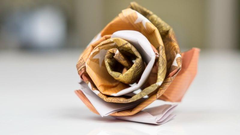 herrliche Geldschein Rose kreative DIY Ideen