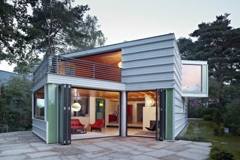 atraktive Hausfassade aus Glas