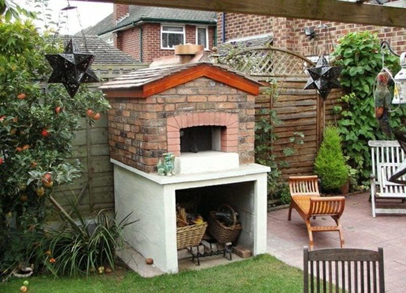 Gartengestaltung originell Grill und Pizzaofen