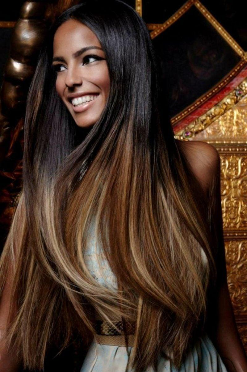 Frisur mit Ombre Effekt Haare färben nach dem Mondkalender