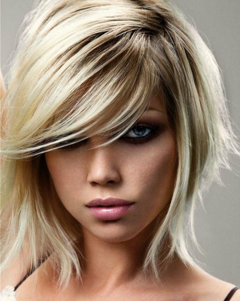 extravagante kurze Frisur Haare färben nach dem Mondkalender