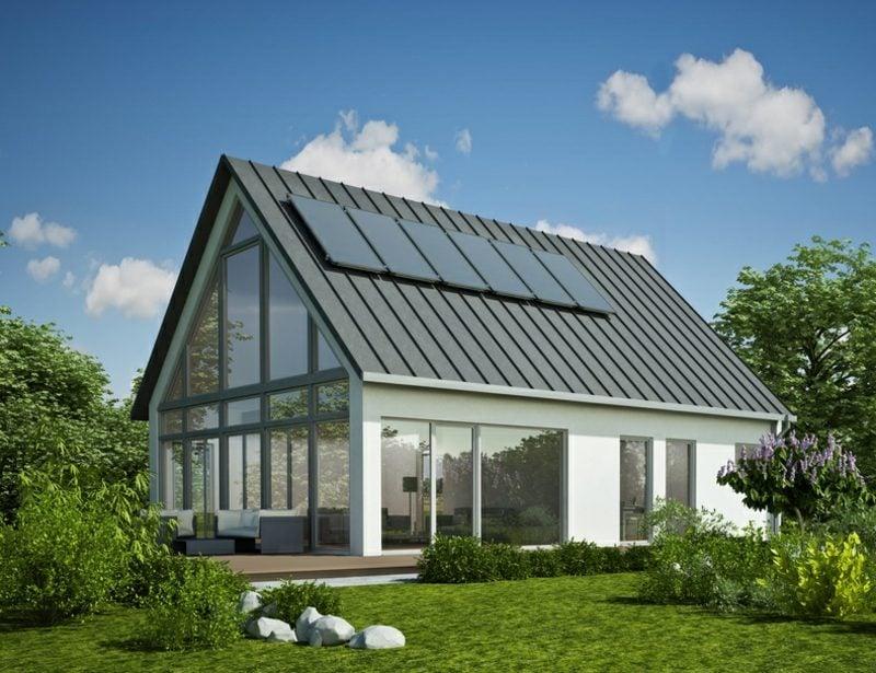 Hausfassaden Ideen und Inspirationen Glasverkleidung