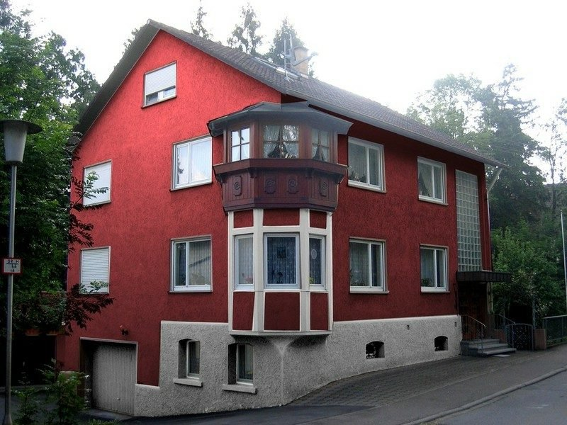 Hausfassade im Rot moderne Fassadengestaltung