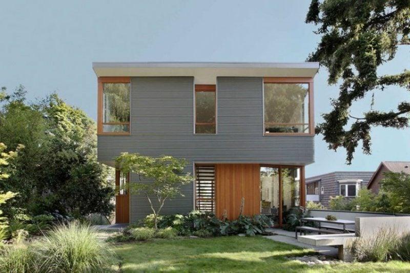 Gut Fassadenverkleidung Aus Metall. Fassadenverkleidung Metall Kreative Ideen  Fassadengestaltung