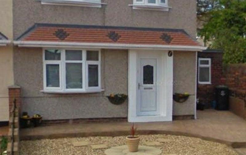 Wie Wird Eine Hausturuberdachung Gebaut Fenster Turen Haus