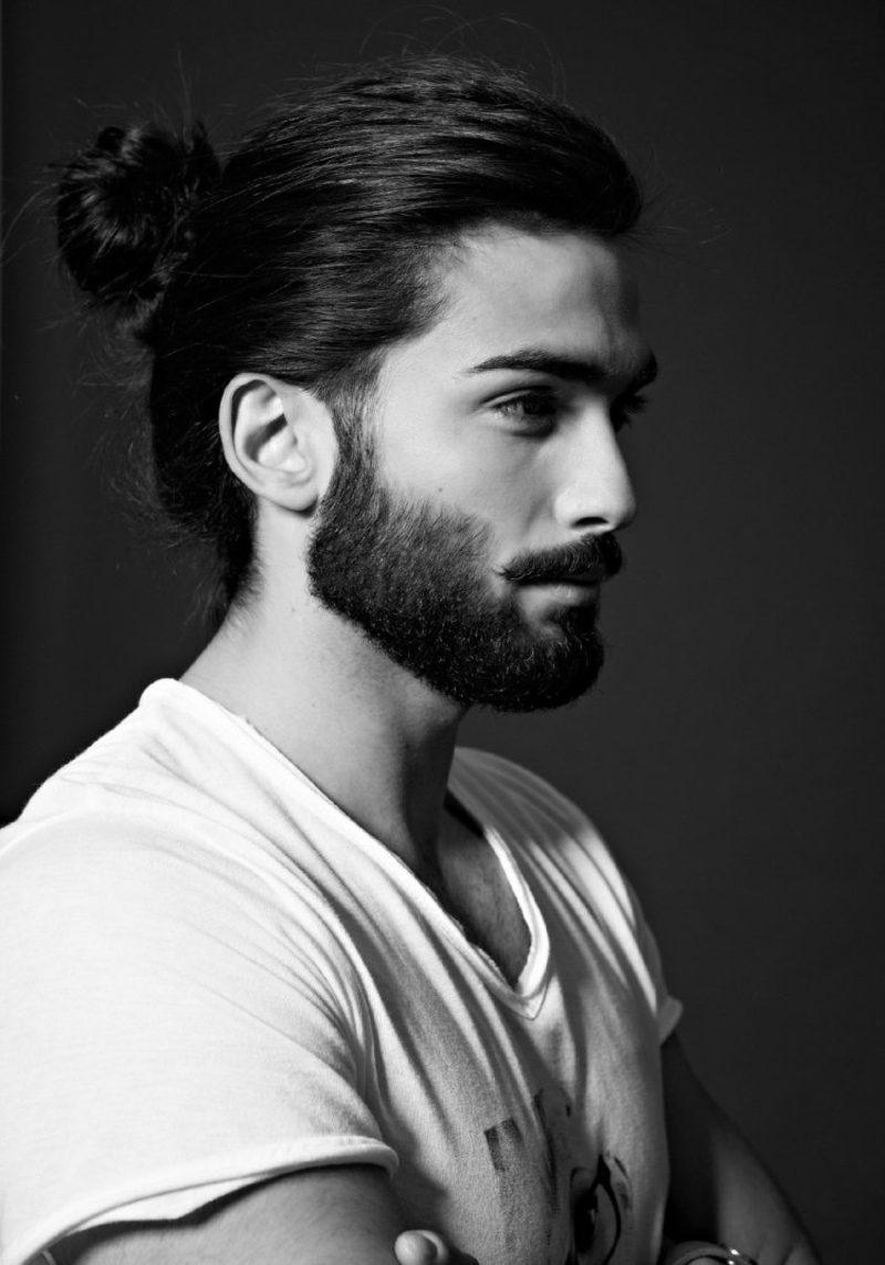 Herrenfrisuren für 2015 lange Haare Man Bun Bart