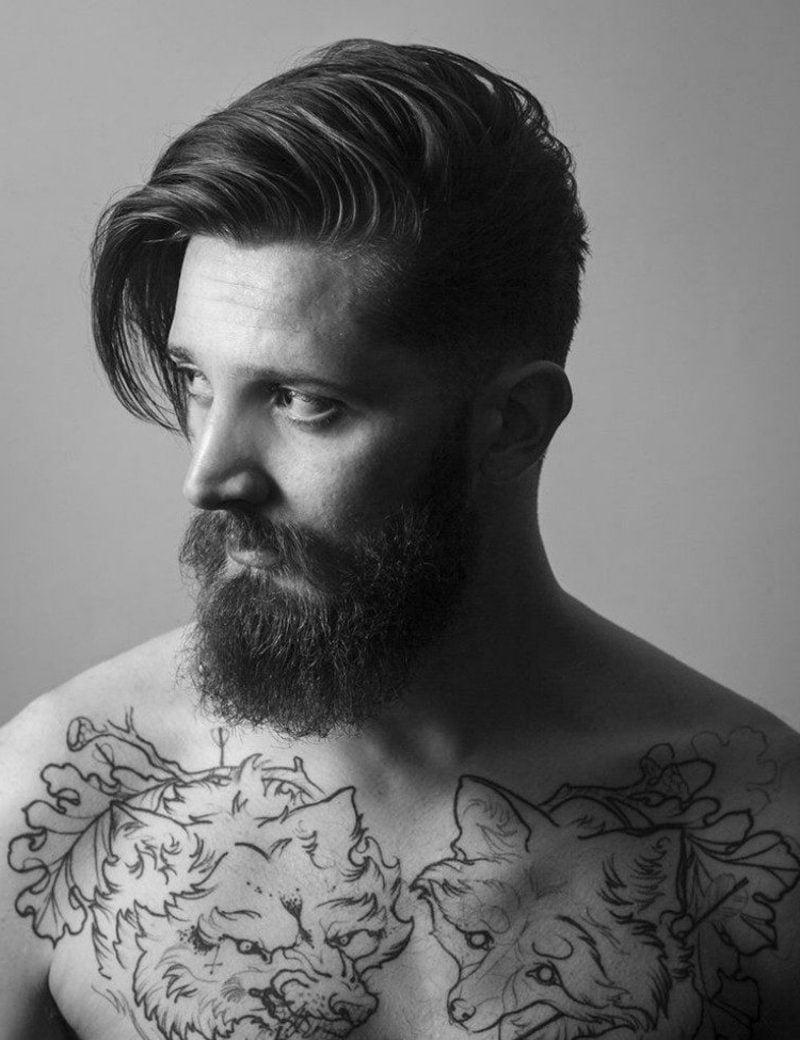 Herrenfrisuren für 2015 ausgefallene Frisur mit Seitenscheitel