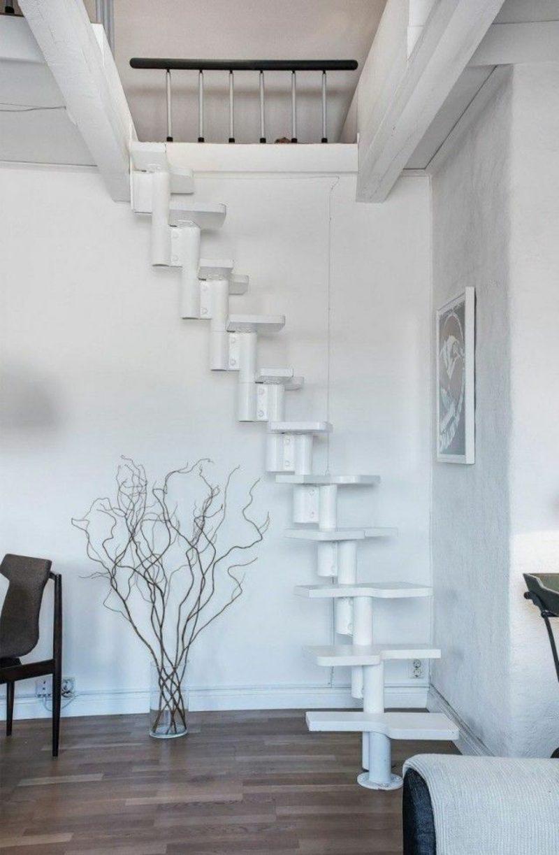 holztreppe wei swalif. Black Bedroom Furniture Sets. Home Design Ideas