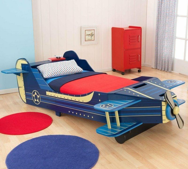 mitwachsendes Kinderbett Flugzeug Jungenzimmer Flugzeug