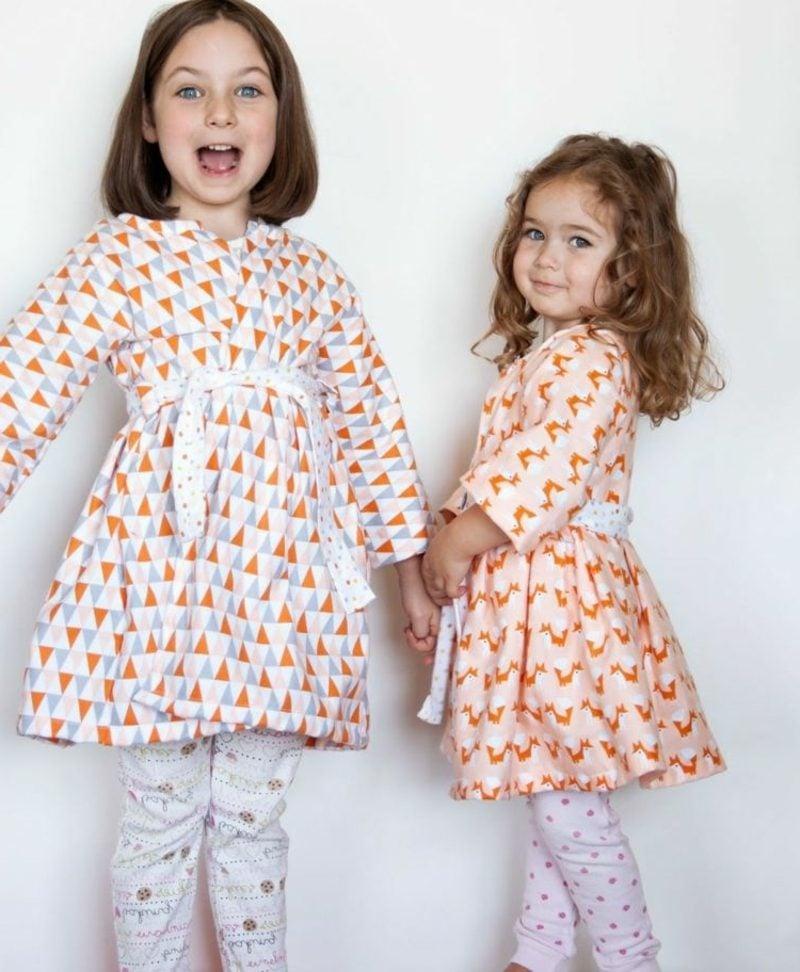 Kinderkleidung nähen Bademantel Ideen und Inspirationen