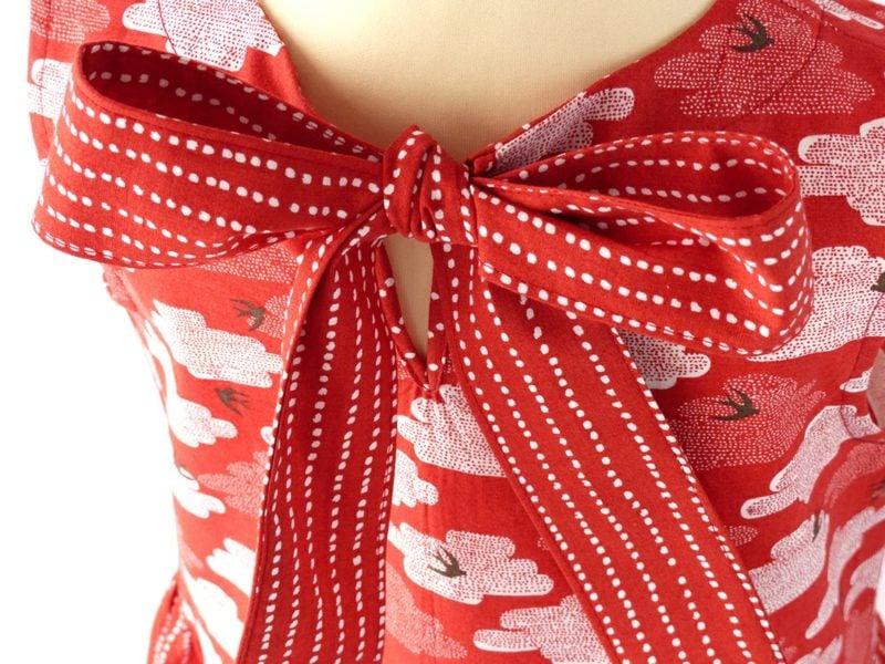 originelle Bluse Rot und Weiss Kinderkleidung nähen
