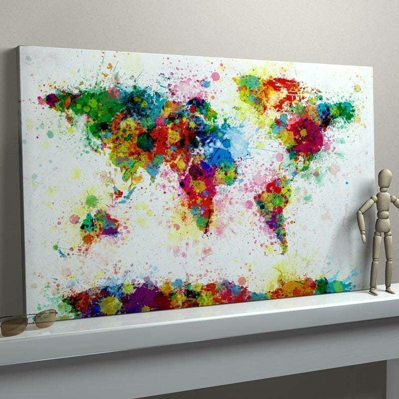 originelles Bild Weltkarte Leinwand