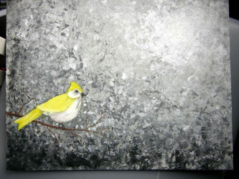 Vogel originelles Bild aif Leinwand