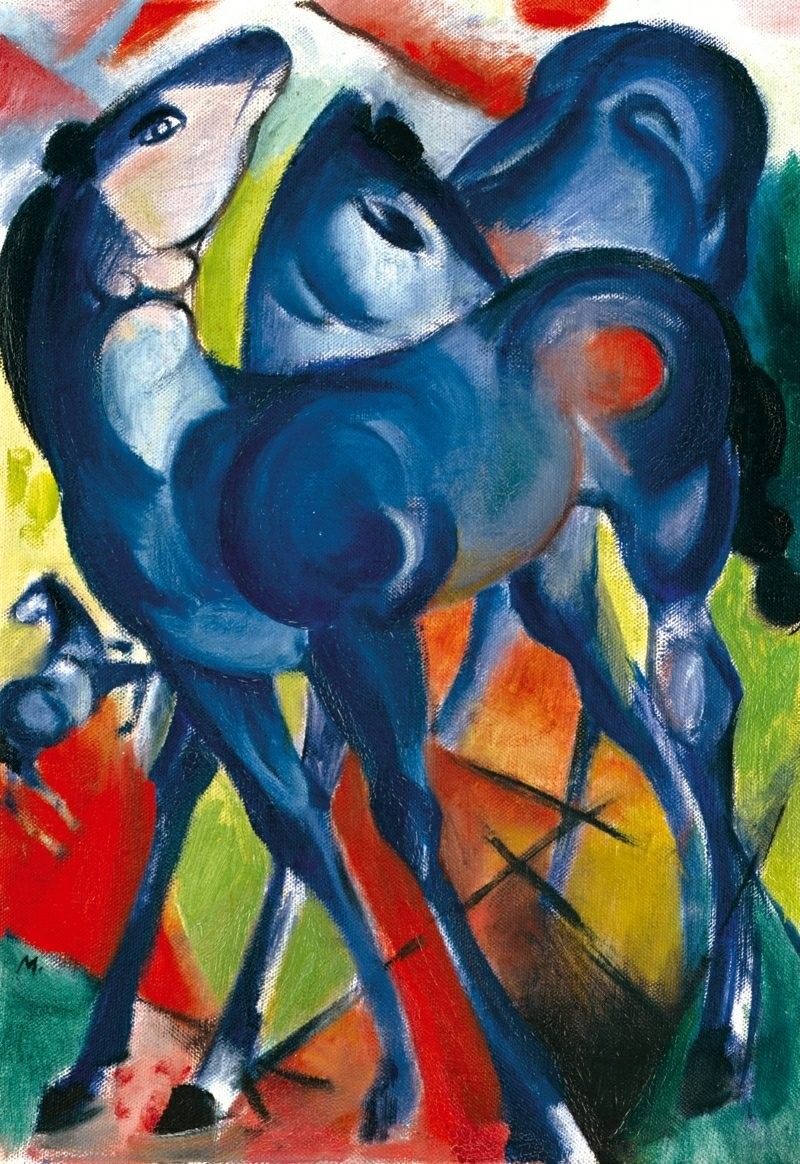 marc chagall die blauen fohlen