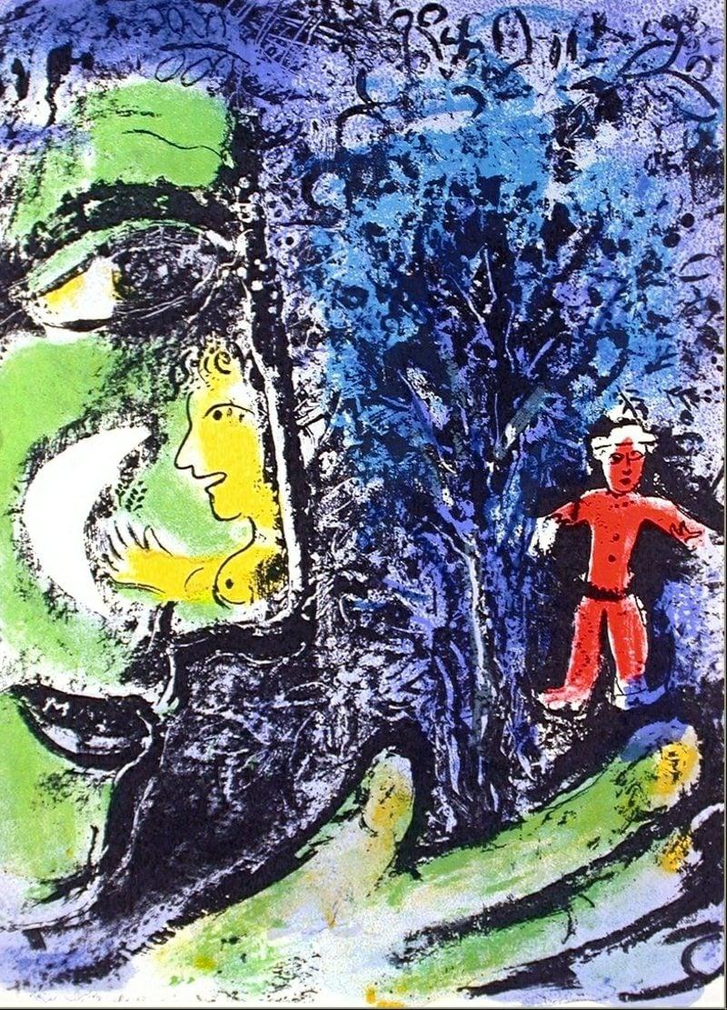 marc chagall profil kind
