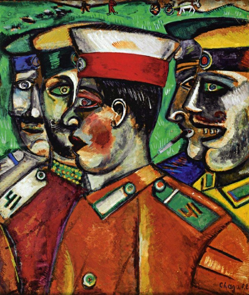 Marc Chagall Werke Soldate