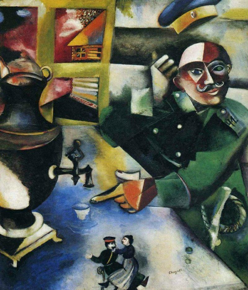 marc chagall werke drunker-soldier