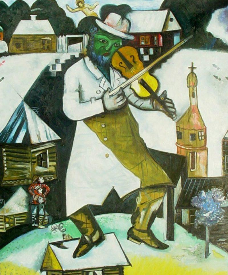 marc chagall werke green-violinist
