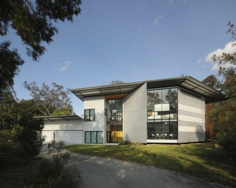 Fassadenverkleidung Metall kreative Ideen Fassadengestaltung