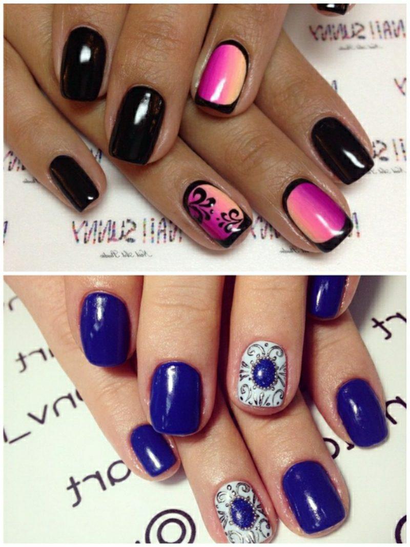 Nageldesign Trends Blau und Violett
