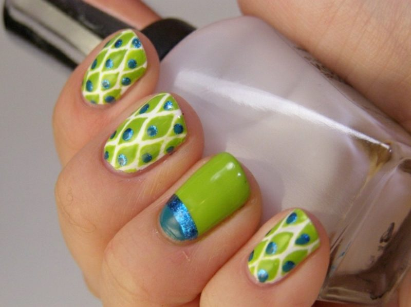 interessantes Nageldesign Frühling