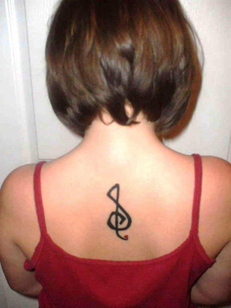 Notenschlüssel Tattoo wrist