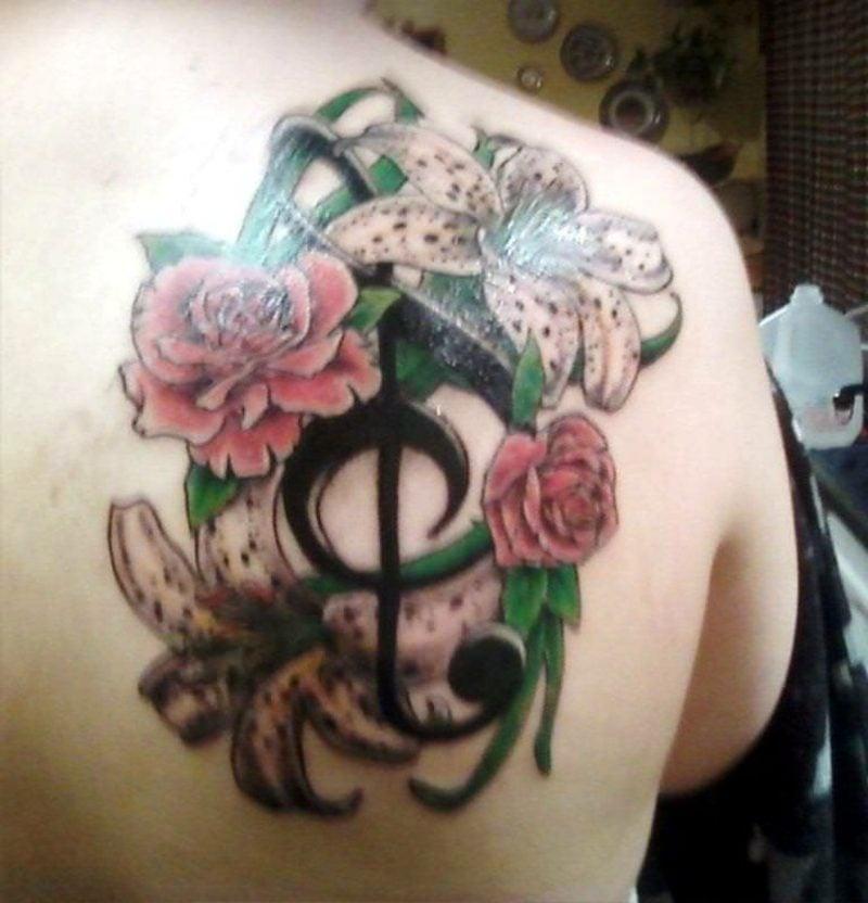 notenschl ssel tattoo bedeutung deko feiern tattoos zenideen. Black Bedroom Furniture Sets. Home Design Ideas