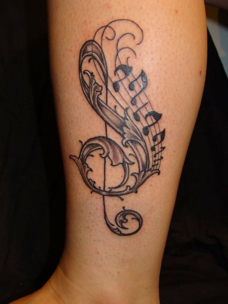 Simple Musical Notes Tattoo Designs