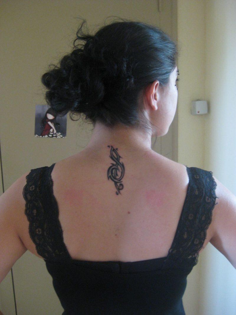 Notenschlüssel Tattoo clef