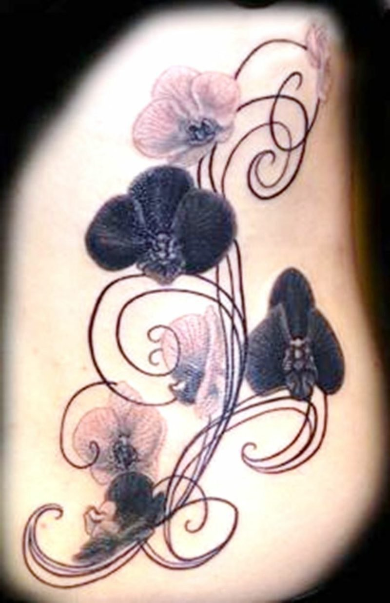 orchideen tattoo