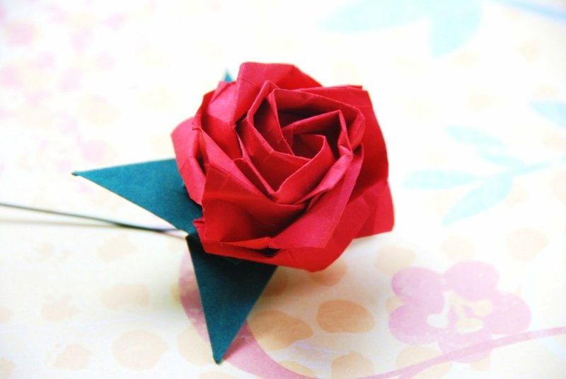 Beliebt Origami Rose Anleitung NG81