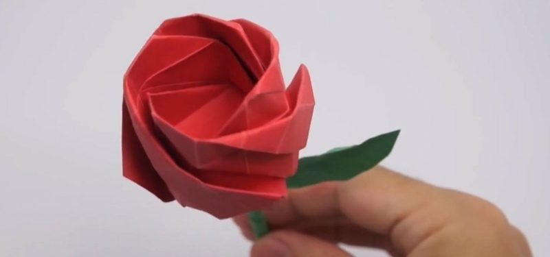 origami rose anleitung fold lifelike