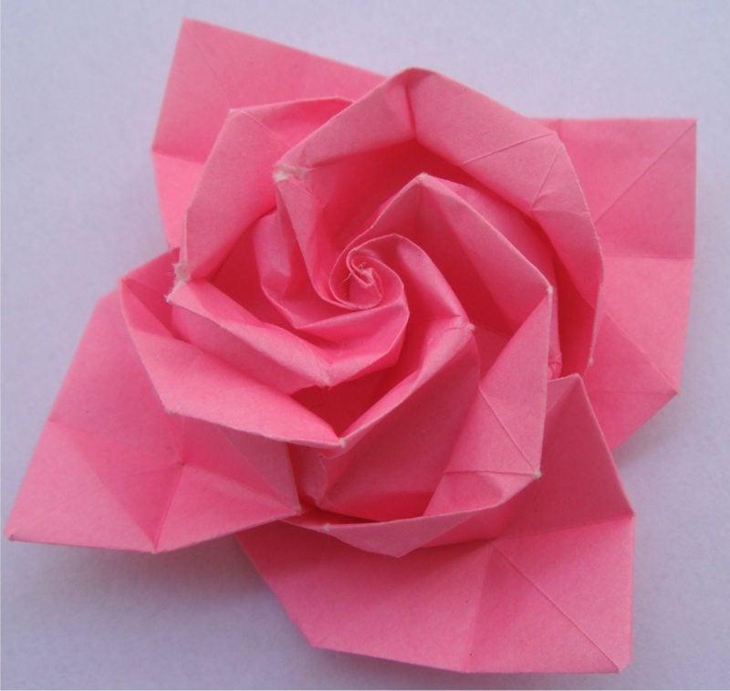 origami rose anleitung