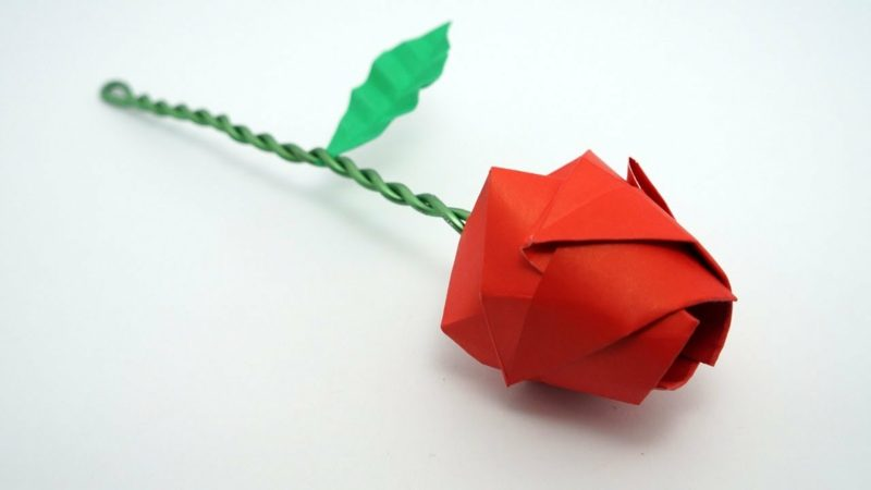 Make an Easy Origami Rose | 450x800