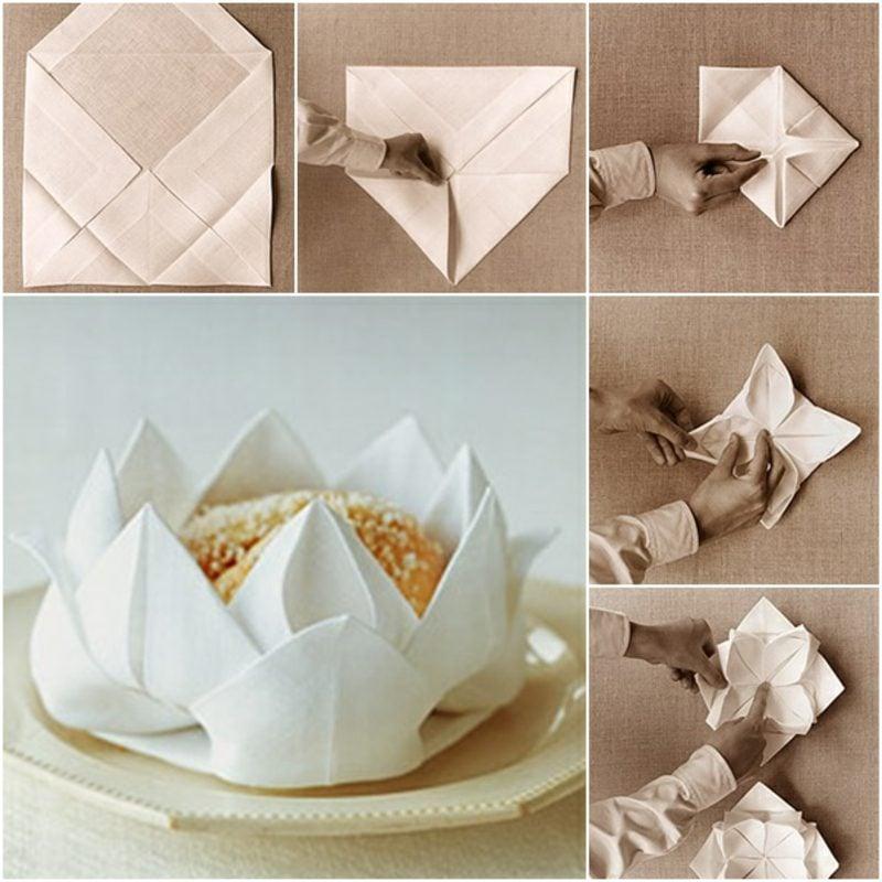 papierservietten falten anleitung bastelideen deko feiern diy zenideen. Black Bedroom Furniture Sets. Home Design Ideas