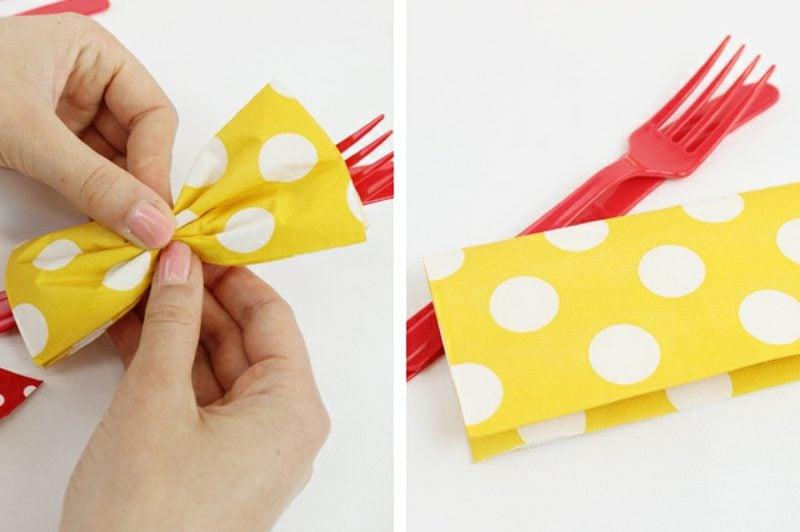 papierservietten falten