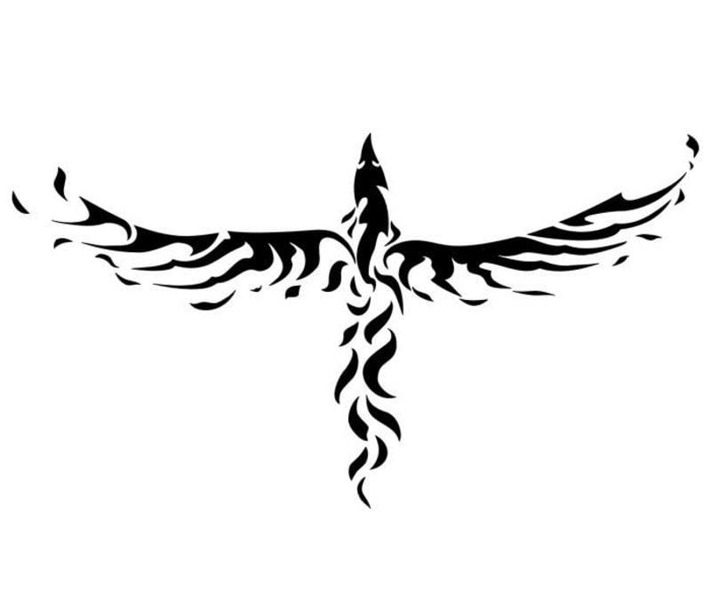 Phönix stilisiert Tattoovorlagen für Unterarm