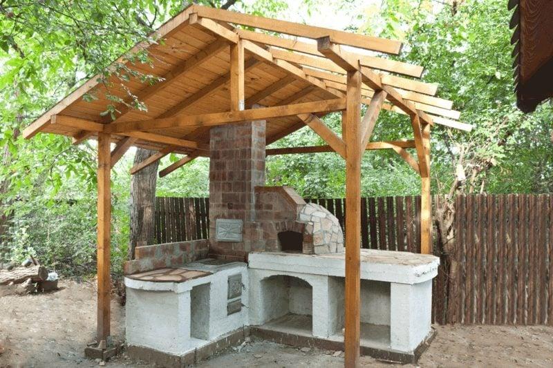 pizzaofen bauen building roof