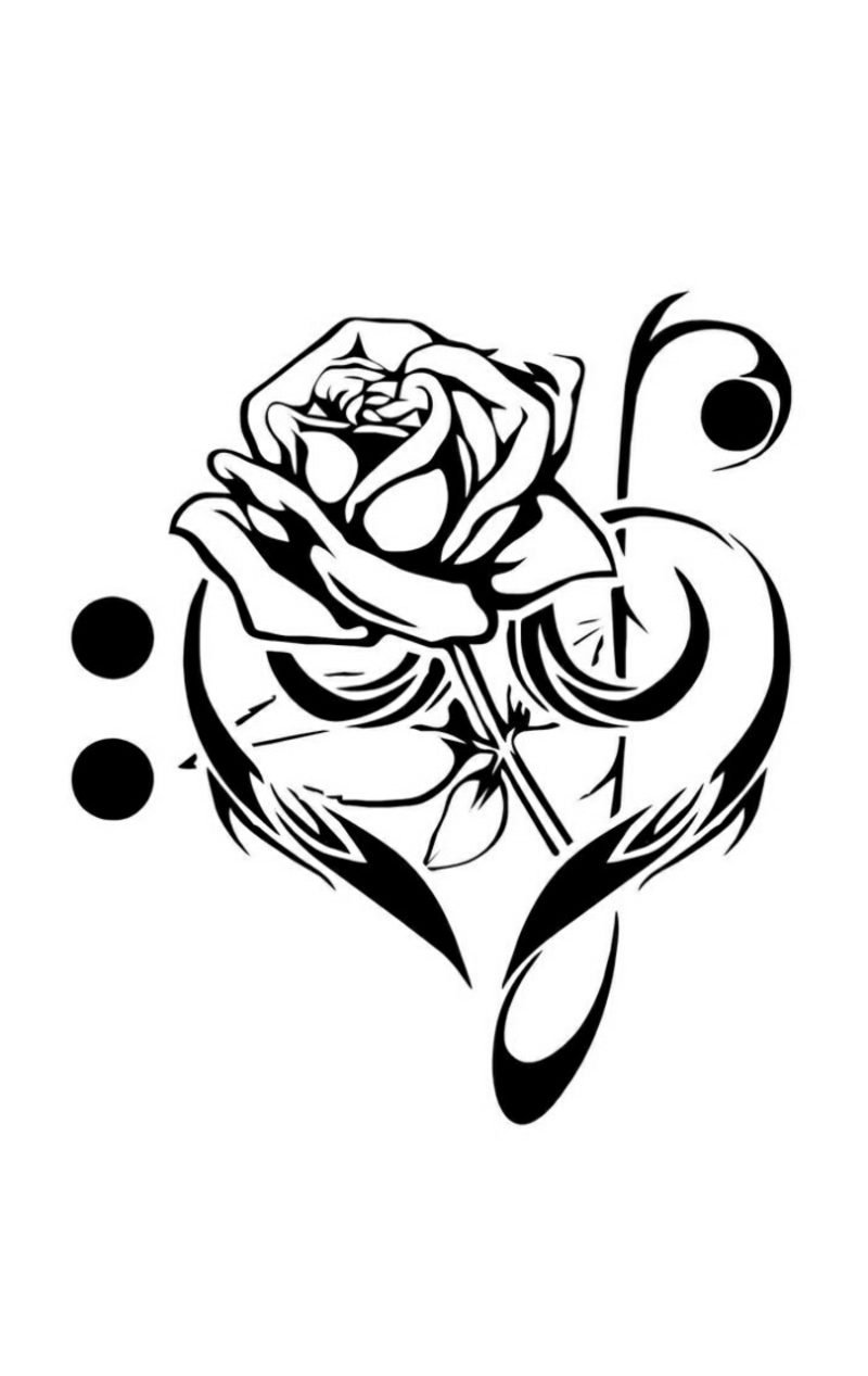 Hearts Roses Tattoo Designs